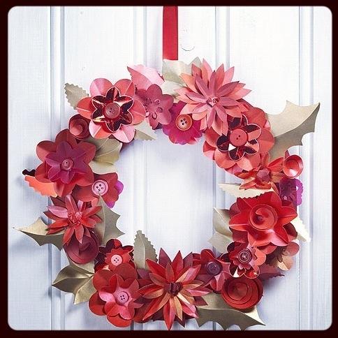 make: christmas paper flower wreath | sewyeah
