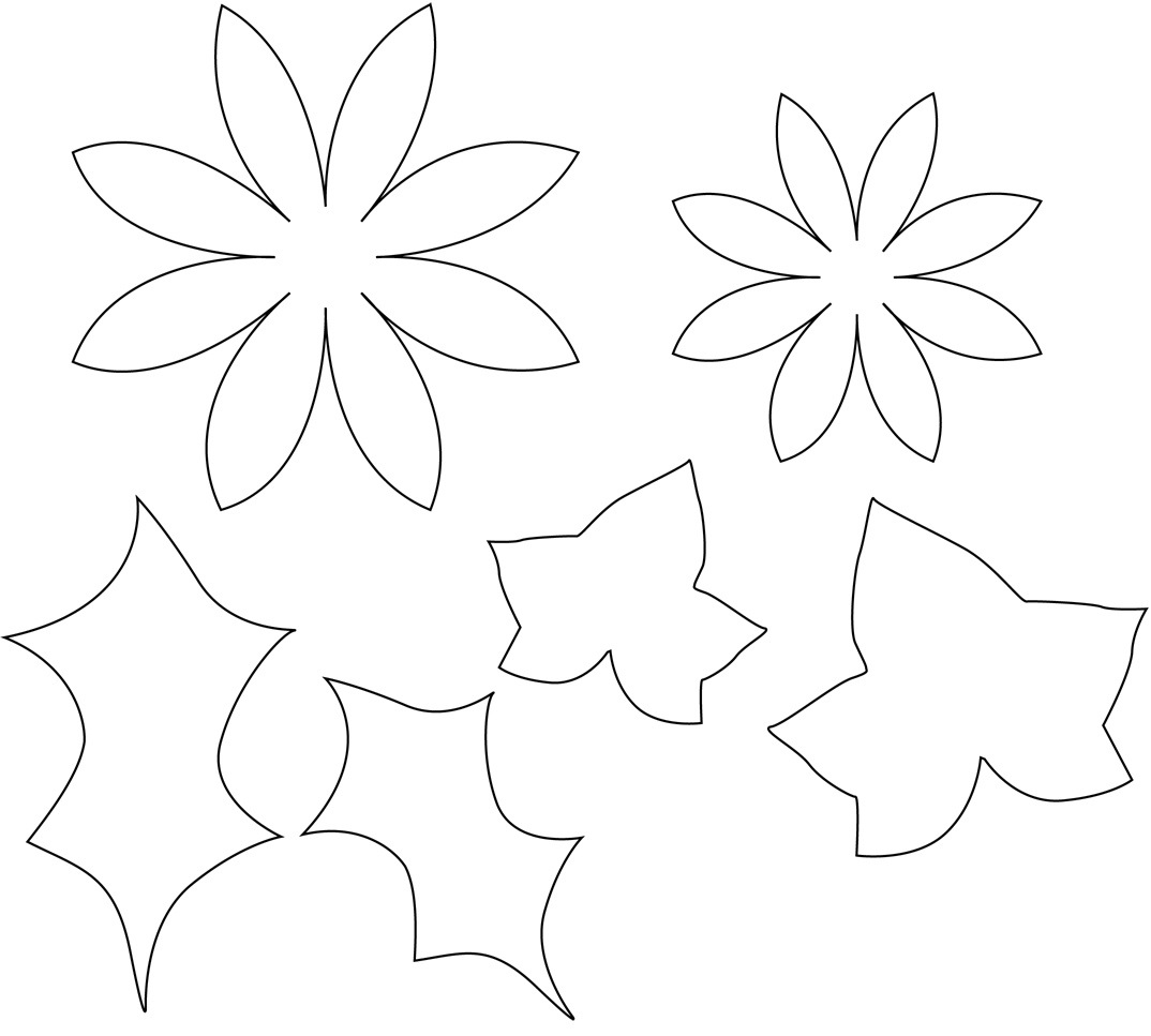 Flower template sewyeah for Free printable paper flower templates