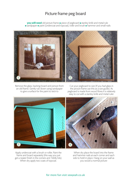 picture frame pegboard