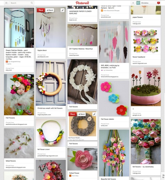 pinterest feather flower inspiration
