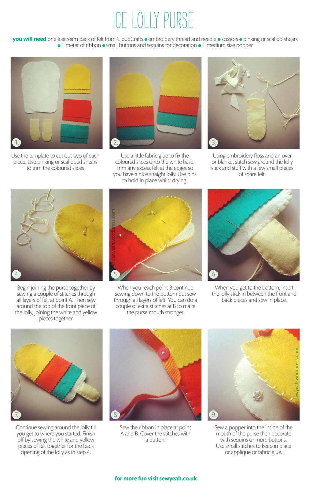 make  ice lolly purse  ooh and a win  a pack of lovely