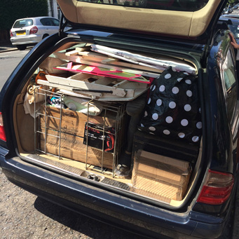 We set off on a Tuesday. The car was shall we say full. (There was a roof box too!)